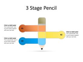 Three Step Pencil diagram in opposite directions