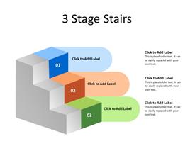 Three Stairs in sequence depicting growth