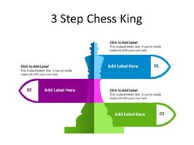 Three Steps Chess piece diagram concept