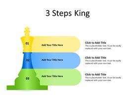 3 Steps King Colored