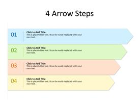 4 Arrows as bullet list
