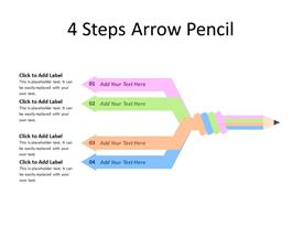Four different arrows of pencil as steps