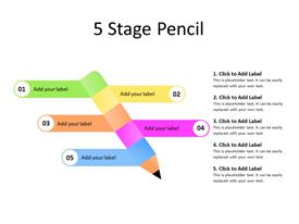 Five steps of pencil diagram