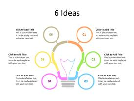 Innovation concept with six ideas