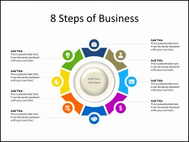8 Steps of Business Circular Diagram with Icons