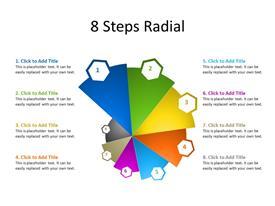 8 Steps Circular Diagram form with 8 multicolor sectors