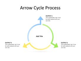 Circular arrow diagram with 3 steps