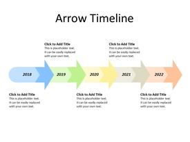 5 Arrows in Sequence as Timeline
