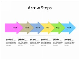 6 Sequential Arrows as steps