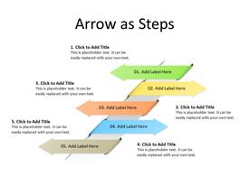 Four Arrows in sequence as steps