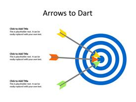 This PowerPoint diagram slide shows Target Board with three arrows target achievement.