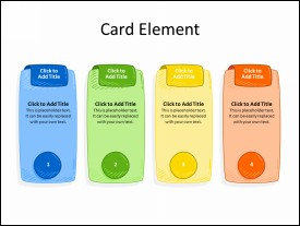 4 Card Elements in Sequence