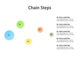 chain diagram with 5 objects