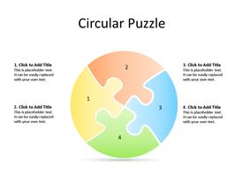 Circular Puzzle PowerPoint diagram with 4 segments
