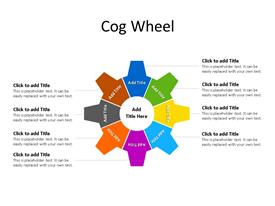 8 Step circular cog wheel PowerPoint diagram