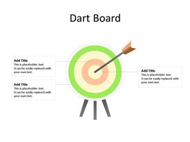 Business PowerPoint Diagram Dart Board for Target Planning