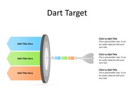 Three steps of a dart diagram