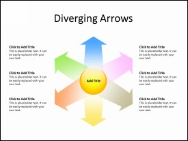 6 Diverging Arrows in Circular form