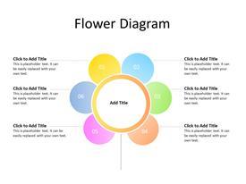 Petals diagram with 6 petals