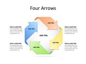 4 Step Arrows Diagram for PowerPoint with editable text to enter data
