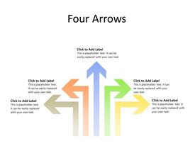 5 multicolor arrows in different directions