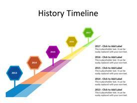 Timeline concept with 5 milestones