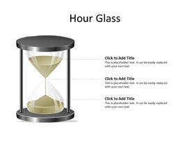 Hourglass concept showing progress