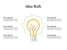 Idea bulb business concept