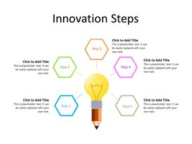 Idea bulb concept with five steps/ideas