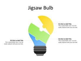 Jigsaw idea bulb concept