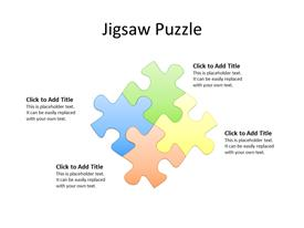 A solution concept as 4 jigsaw pieces