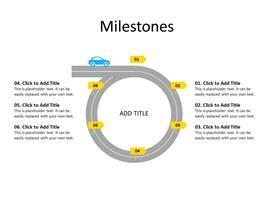 Timeline with 6 milestones