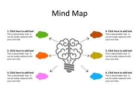 Mindmap diagram concept with cloud connections
