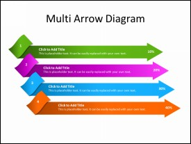 List diagram with 4 Arrows as Items