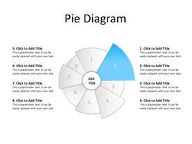 Pie diagram with 8 sections