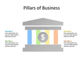Four pillars of successful business PowerPoint diagram