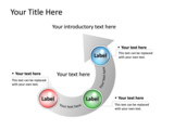 PowerPoint Slide - This PowerPoint diagram slide shows how each process leads to the other.