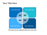PowerPoint Slide - This PowerPoint diagram slide shows a matrix with a circular title in the center.  The slide can be used to represent various concepts.