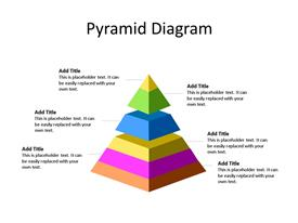 Multi-level 3D segmented pyramid with six different stages