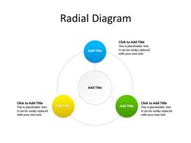Creative radial diagram for PowerPoint with 3 Items