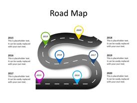 Roadmap with 6 milestones