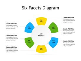Radial PowerPoint diagram with six facets / steps / stages