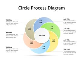 Six steps / facets circular process PowerPoint diagram