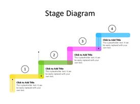Four stage stairs PowerPoint diagram with editable text to enter data