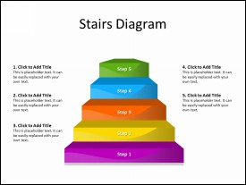 Steps Diagram with 5 Stairs