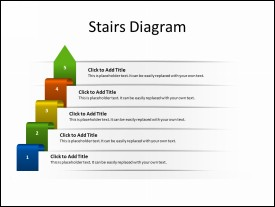 Stairs Diagram with 5 Steps