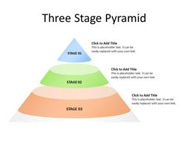 Stages diagram in the form of pyramid