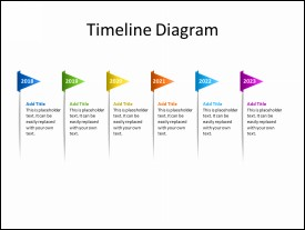 Timeline Diagram with 6 Flags