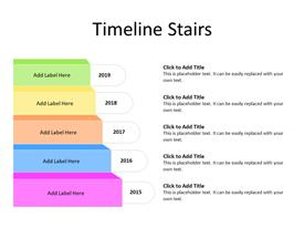 Timeline concept with five stages