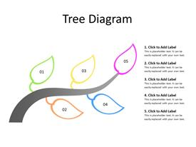 Tree diagram with five leaves